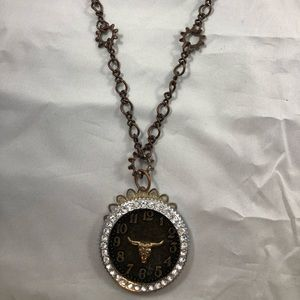 Steampunk Bull Necklace